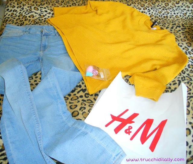 h&m jeans skinny e golf giallo senape pantone 2016