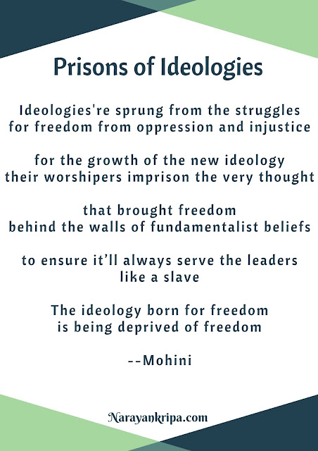 Text Image poster for April Poetry Month Day 5 Poem: Prisons of Ideologies