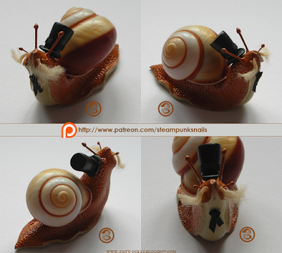steampunk snail statue