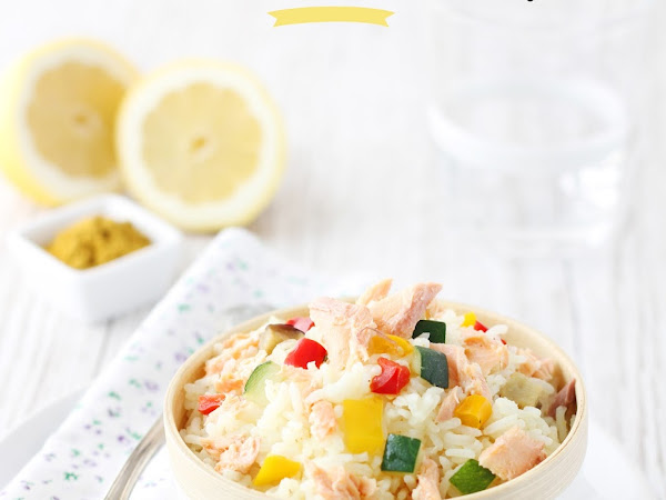 Riso basmati con salmone e verdure al curry