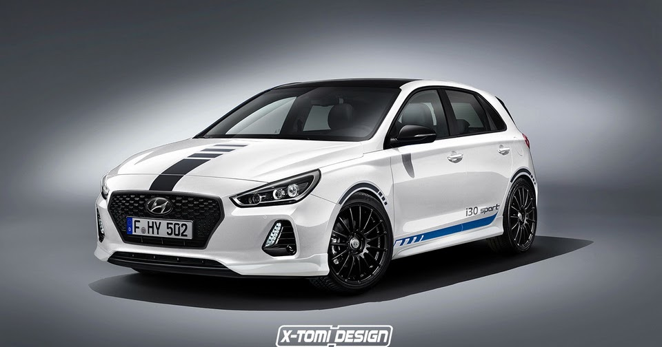 all cars nz 2016 hyundai i30 39 sport 39 rendered. Black Bedroom Furniture Sets. Home Design Ideas