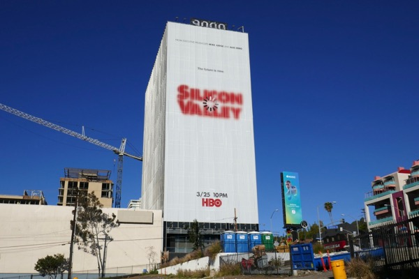 Giant Silicon Valley season 5 billboard