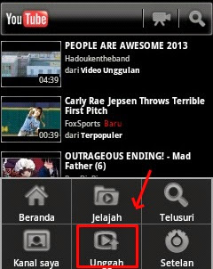 Cara Upload video di YouTube Dengan HP Android