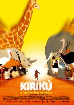Cartel de la película Kirikú y las bestias salvajes