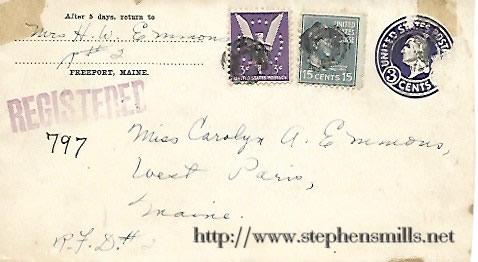 Envelope From Mrs Herman Walter Emmons to Carolyn Audrey Emmons