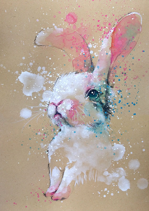 01-Bunny-Rabbit-Tilen-Ti-Colorful-Watercolor-Paintings-of-Animals-www-designstack-co