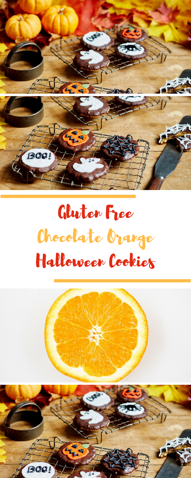 Gluten Free Chocolate Orange Halloween Cookies