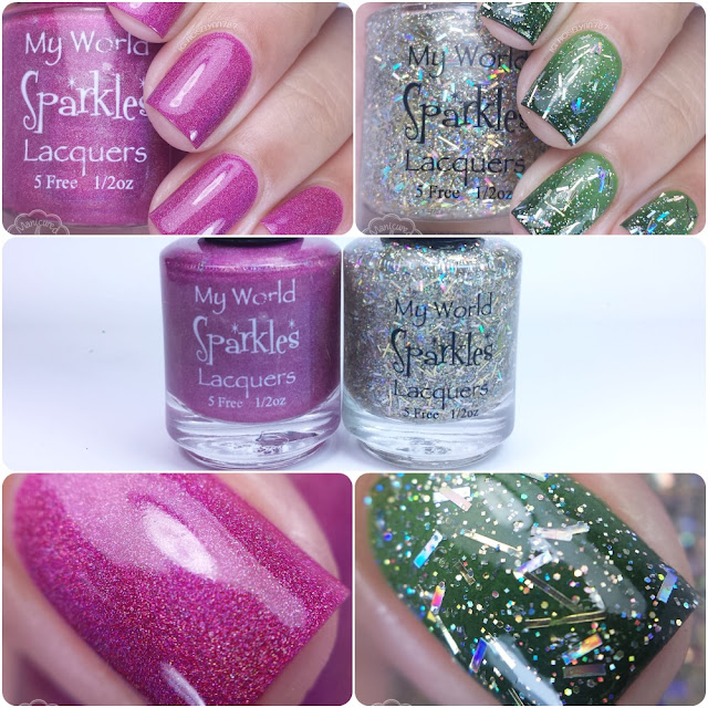 My World Sparkles Lacquers - 2015 Holiday Collection