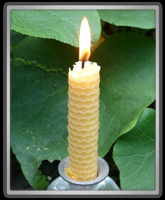 Dipam bijenwaskaars zelfgemaakte raatkaars