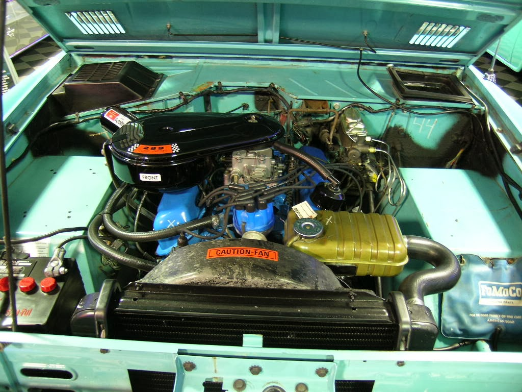 The optional 289 V8 was replaced by the 302 for the 1970s.