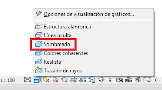 Opción de visualización de vista sombreado, Revit
