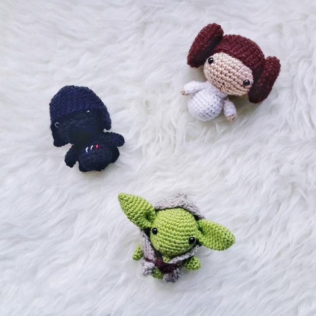 Amigurumi Crochet Star : AMIGURUMI STAR WARS PATTERN COLLECTION - Little Things Blogged