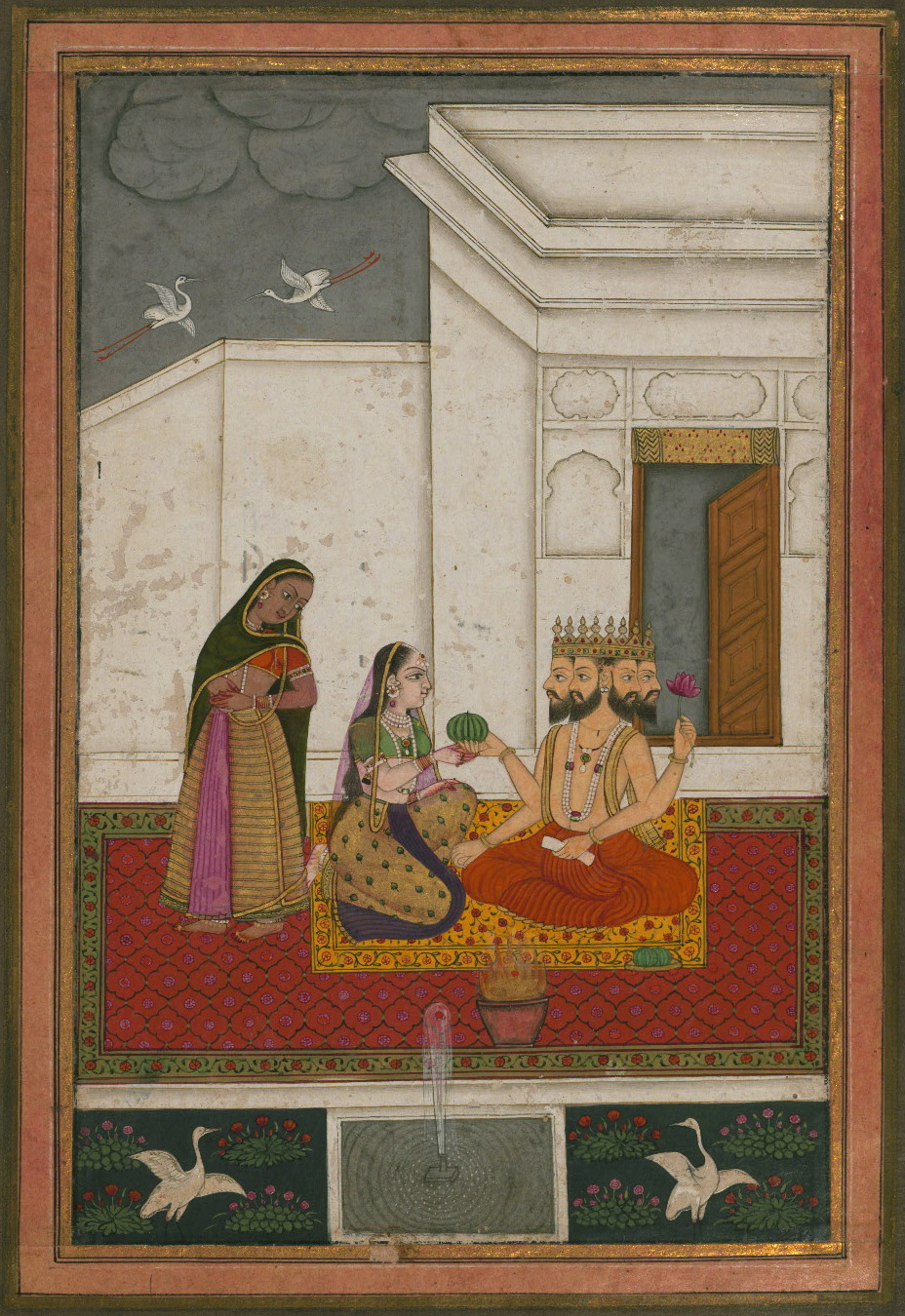 Khambhavati Ragini  - Miniature Painting, Deccan School, Ragamala series, 19th Century