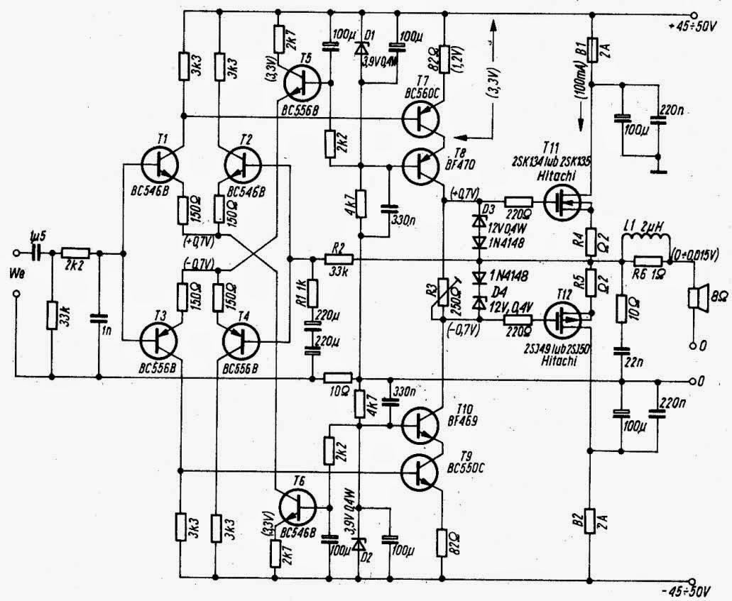 Og Audio Crescendo Mosfet Power Amplifier 2sk135 2sj50