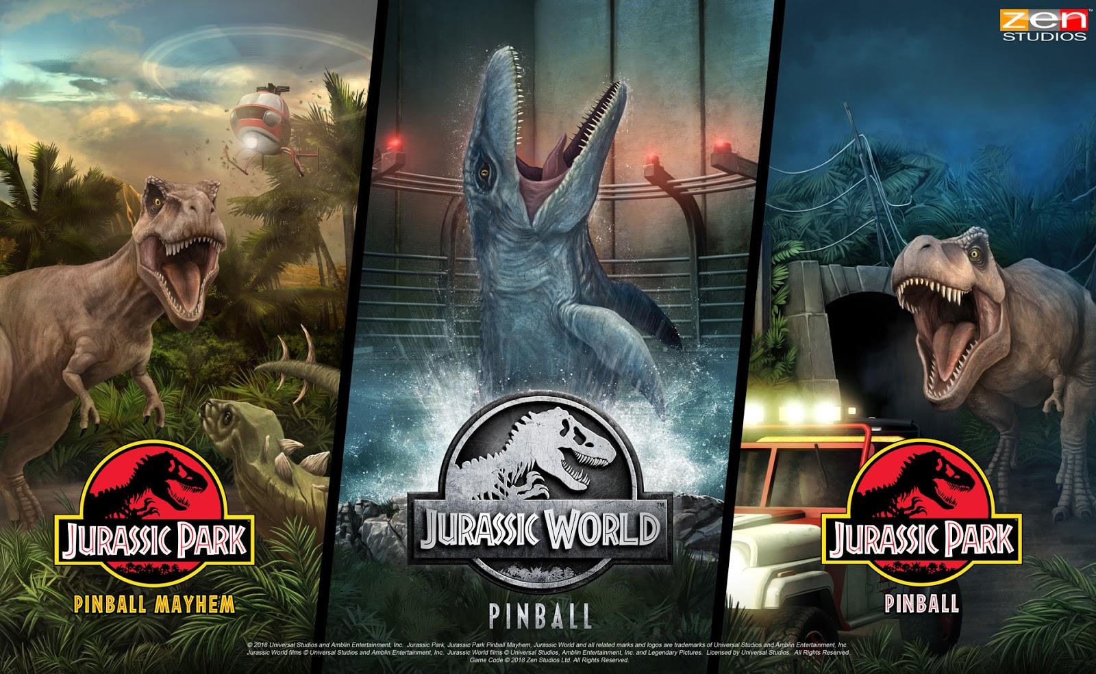 Jurassic World Pinball Roars Onto Pinball FX3 Today for All Major