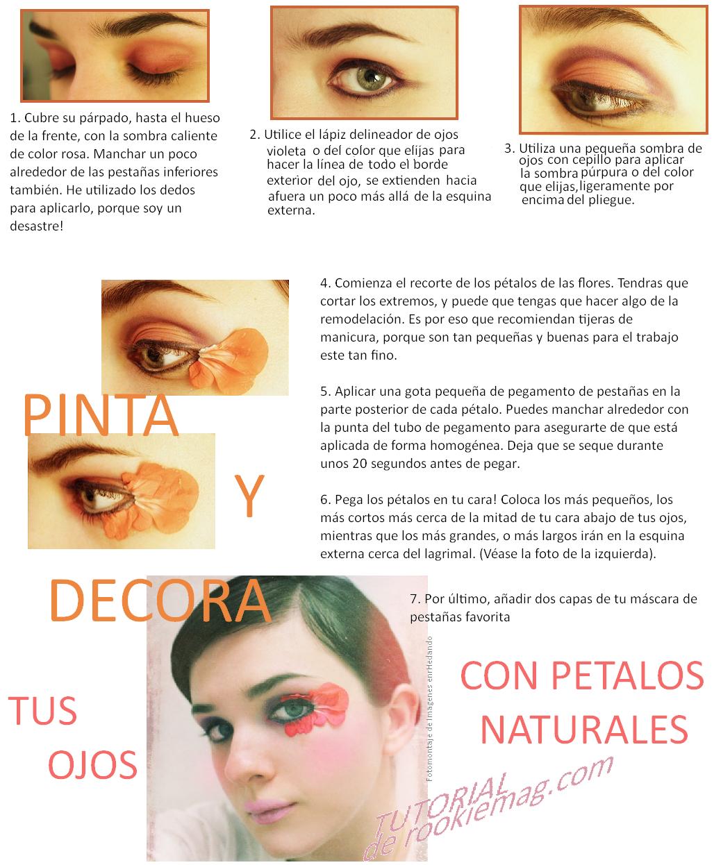 maquillaje, estetica, belleza, ojos, flores en los ojos