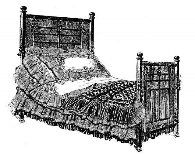 старинный комплект постельного белья