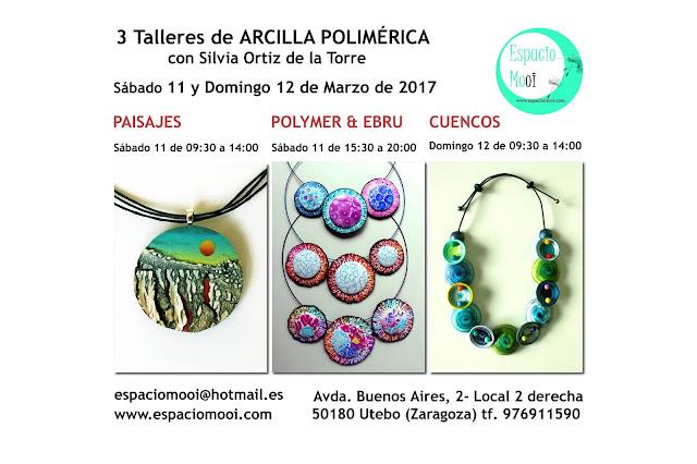 Cursos Arcilla Polimercia con Silvia Ortiz de la Torre 11/12 de Marzo