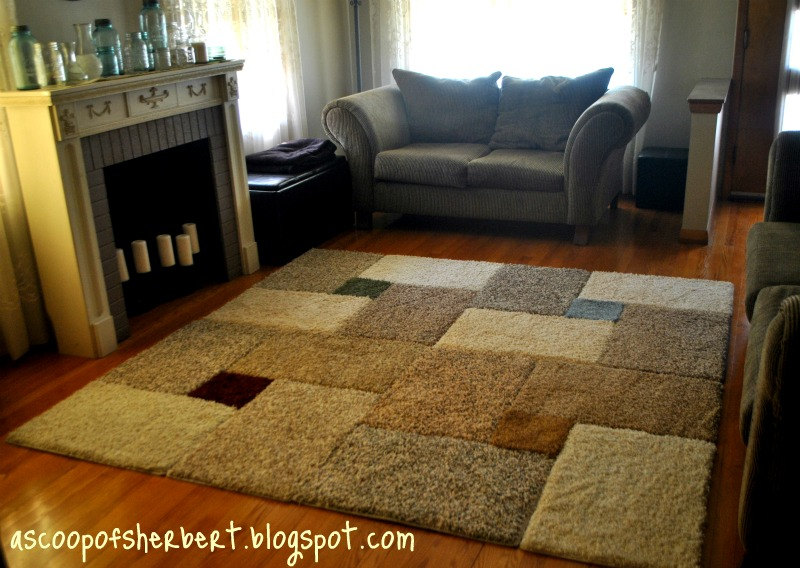 Quadratischer Teppich A Scoop Of Sherbert: Large Area Rug Diy For Under $30