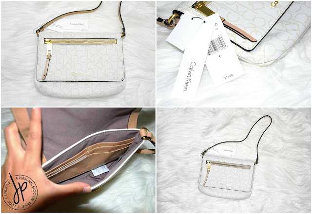 white small purse with strap