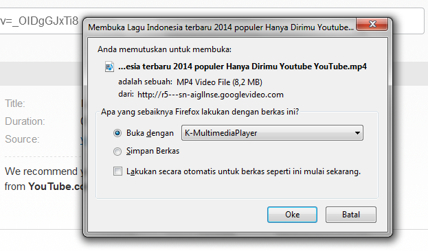 Cara Download Video Youtube ke FLV, MP4, WebM, 3Gp
