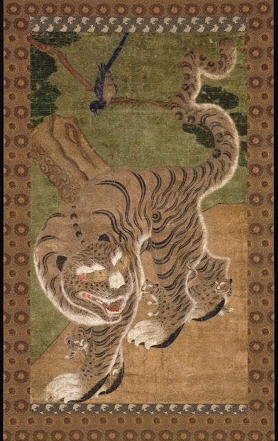 peinture coréenne tigre et pie musée national des arts asiatiques guimet