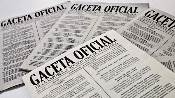 Léase Gaceta oficial Nº 41.3934  10 de Mayo de 2018