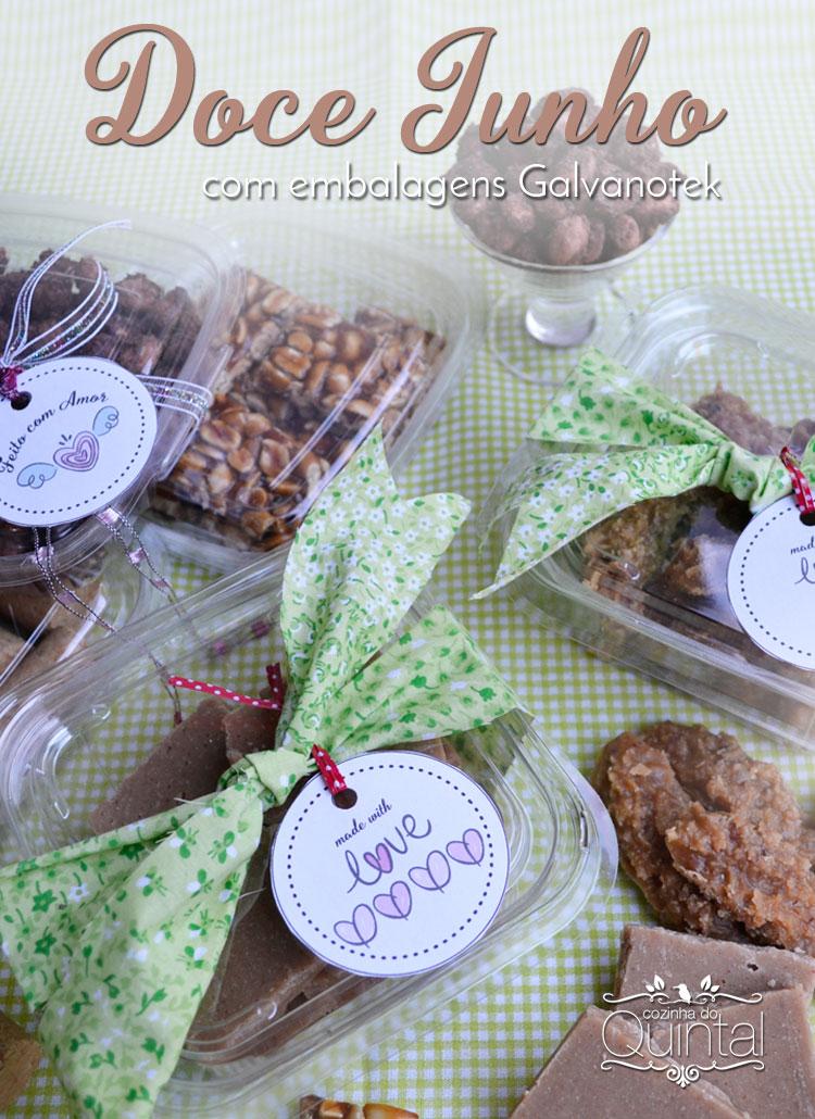 Receitas de festa junina com dica de embalagem Galvanotek na Cozinha do Quintal