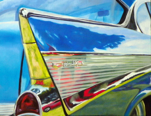 Still life artists international sweet ride vintage car for Auto painting az