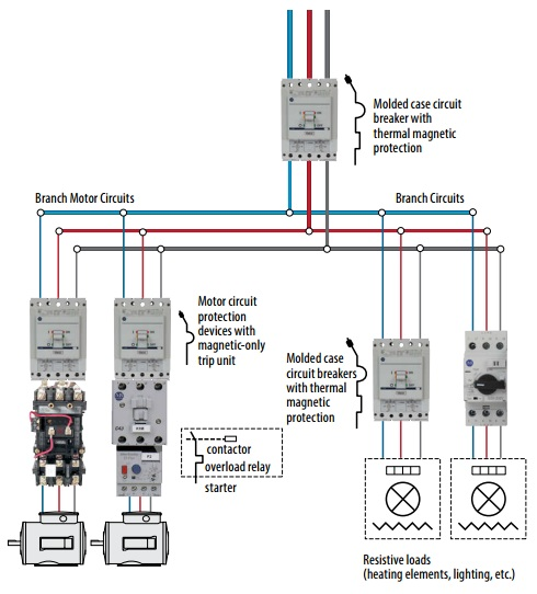 Motor Protection Circuit Breakers Schematic Diagram | Electrical Engineering World