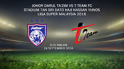 JDT Vs T-Team 24 Sept 2016
