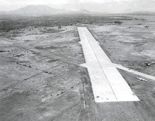 The Lipa Airfield after it was captured and improved by the United States Army. Image credit: US National Archives.