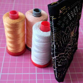 Little Quilt needle case, needle book tutorial by Charm About You, Aurifil thread
