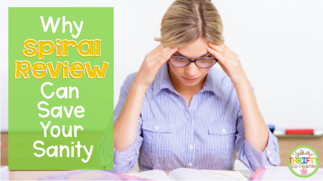 Spiral review is an important component in your classroom and can help save your sanity. Find out how and why.
