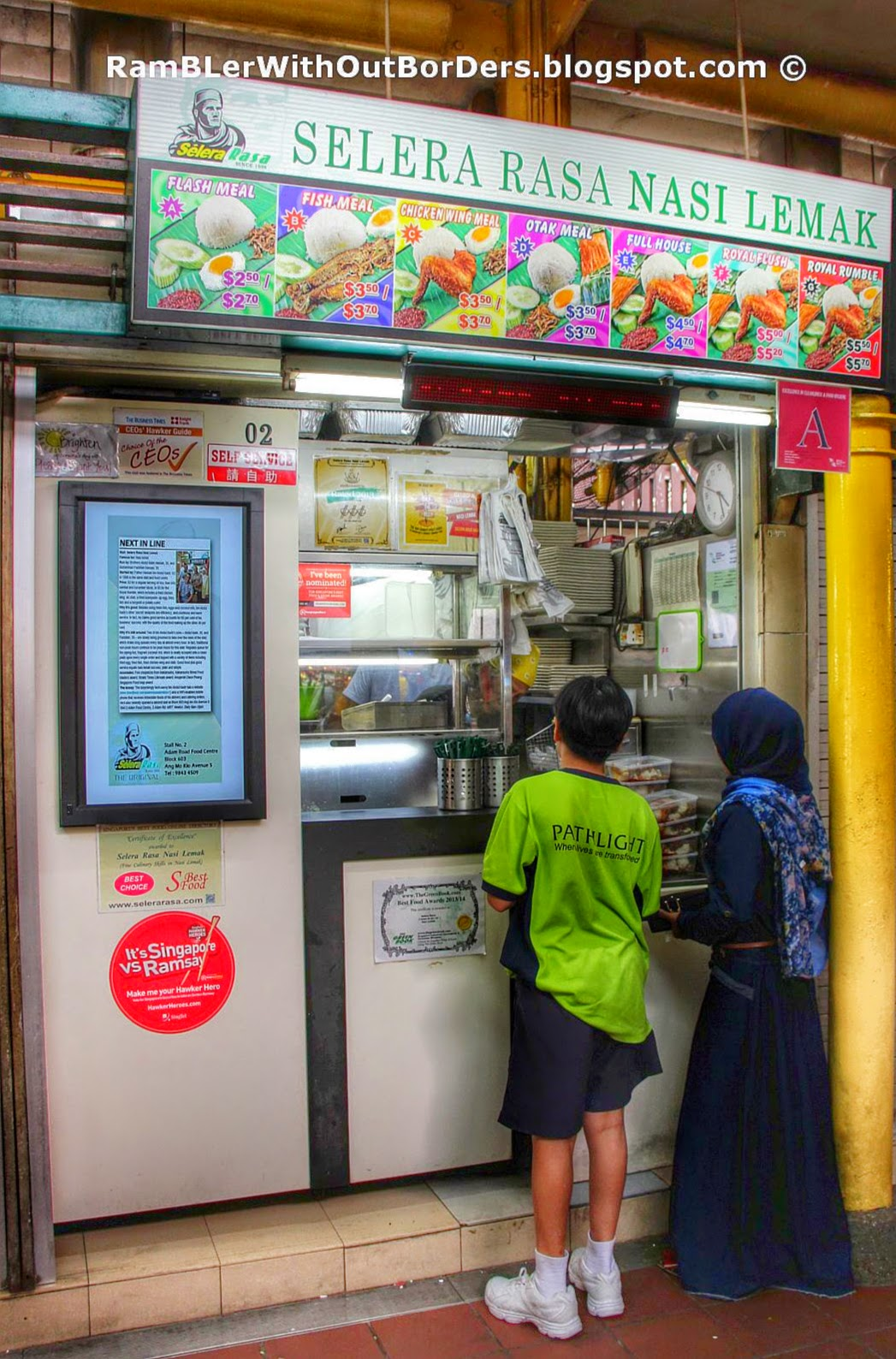 Selera Rasa Nasi Lemak, Adam Road, Singapore