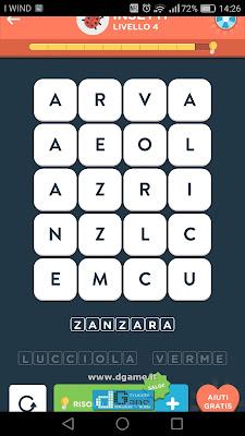 WordBrain 2 soluzioni: Categoria Insetti (4X5) Livello 4