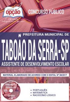 Apostila Concurso Prefeitura de Taboão da Serra 2018 - Assistente de Desenvolvimento Escolar