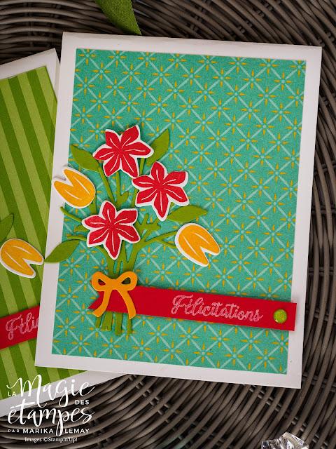 Carte de félicitations Stampin' Up! avec le jeu d'étampes Ravissant Bouquet