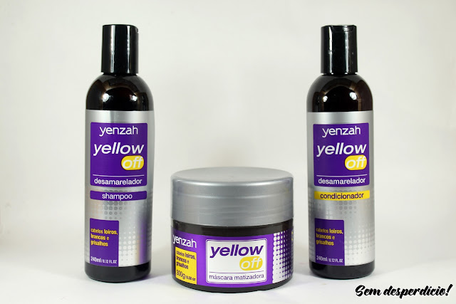 yellow off yenzah shampoo mascara condicionador