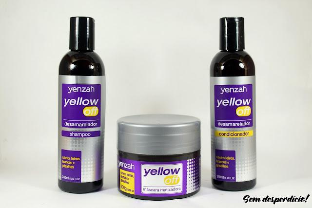 yellow off yenzah shampoo mascara condicionador