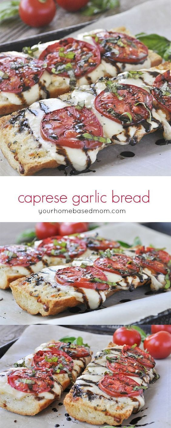 Caprese Garlic Bread #caprese #garlic #bread #lunchideas #lunchrecipes