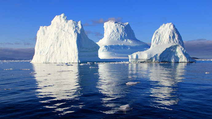 Wallpaper: Nature Floating icebergs