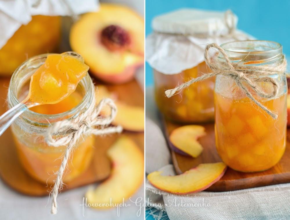 Персиковое варенье с ванилью и лимоном