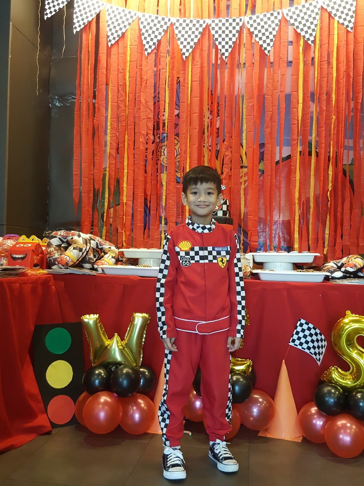 a disney cars racing themed party and