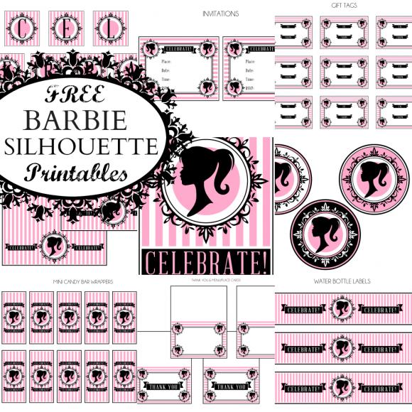 Barbie Silhouette Free Printable Kit Oh My Fiesta In English