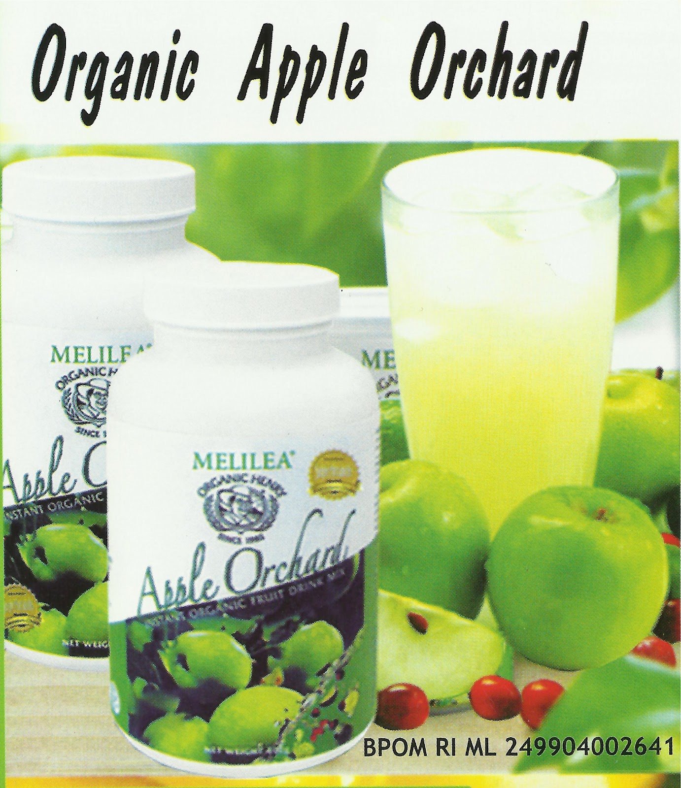 Melilea Minuman Serbuk Apel Hijau Instan Susu Kedelai Organik