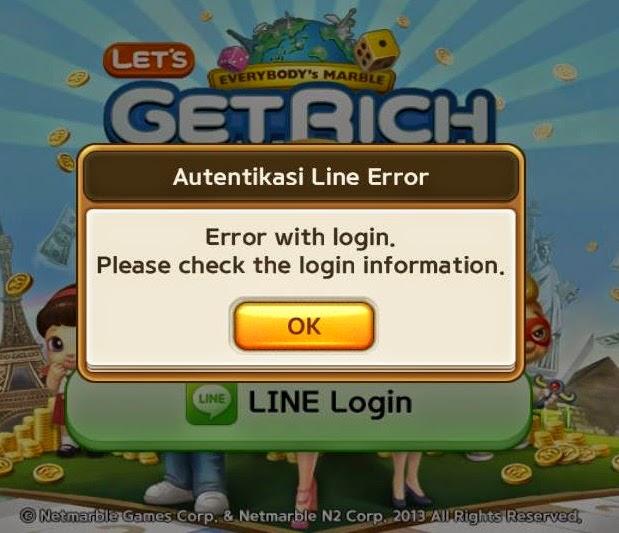 How to fix Line Get Rich Error