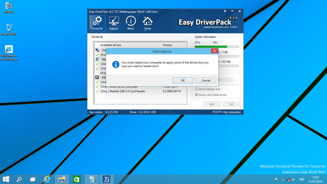 Download Driver Windows 10 Technical Preview untuk Semua Laptop/PC