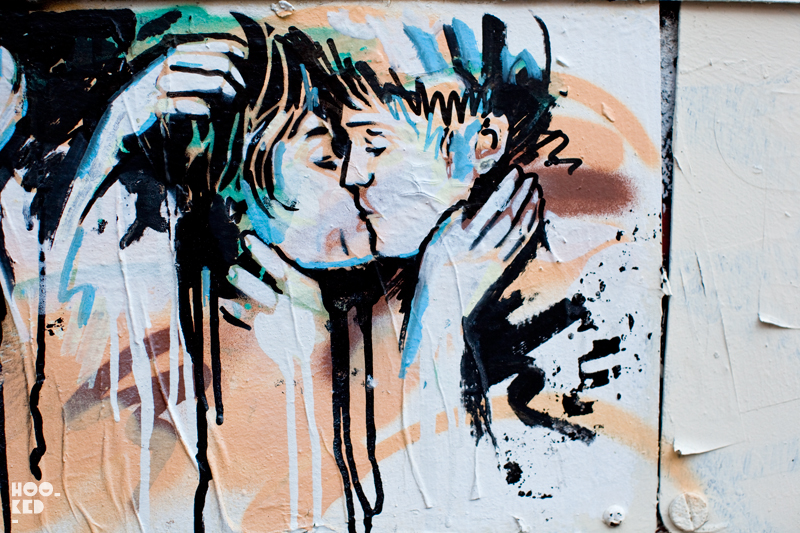 Alice Pasquini - Shoreditch Street Art on Blackall Street