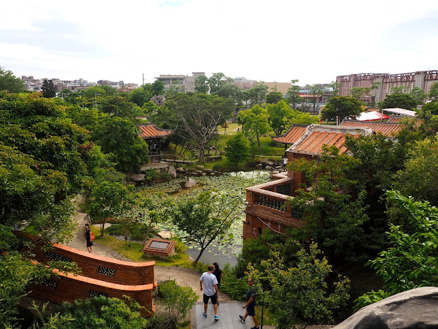 Lin An Tai Historic House, from the top of the waterfall, Taipei, Taiwan